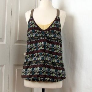 Anthropologie Tea and Honey Brown Tank Top Med